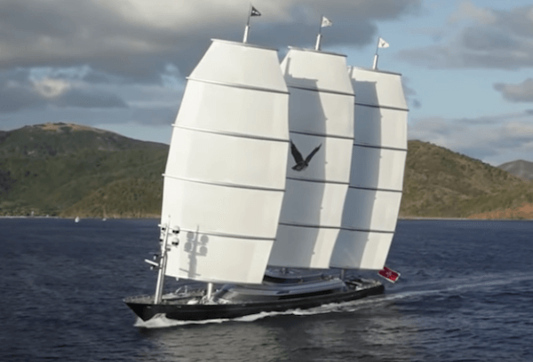 Maltese Falcon Yacht at Sea